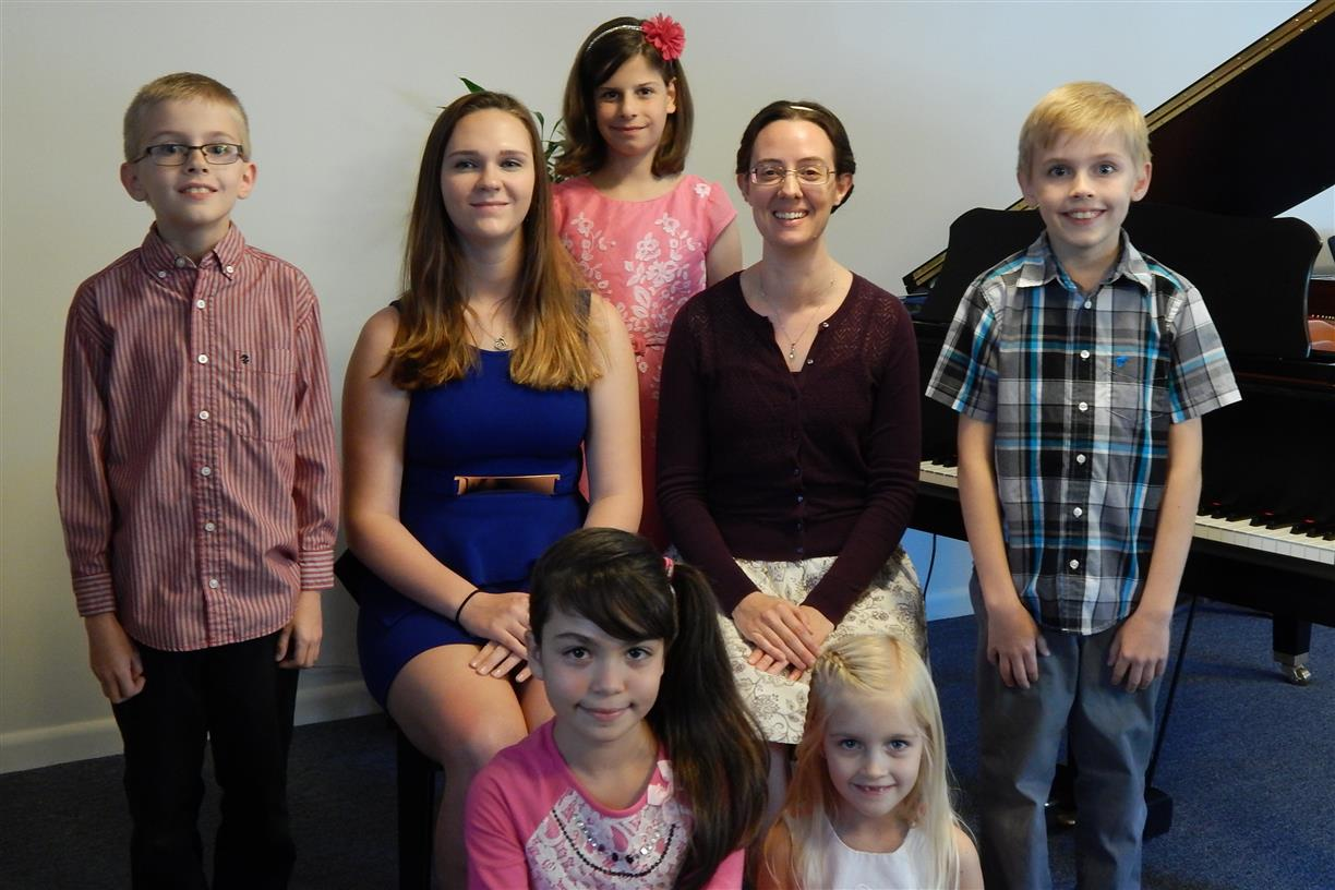 Students of Barwell Flute and Piano Studio perform in a recital in Jacksonville, FL